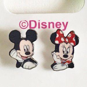 Disney Mickey & Minnie Mouse Earrings Post Stud